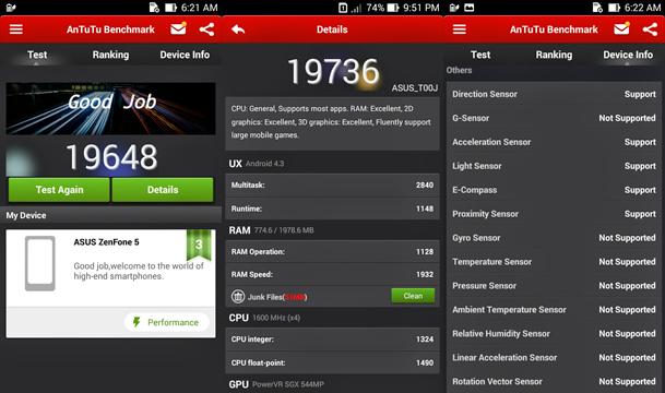 Zenfone 5 benchmark