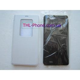 Flip Case. Флип чехол для THL 4400, THL 5000  Black White Черный Белый