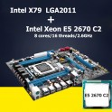Комплект  Xeon e5 2670, huanan X79 Память 16 Гб Кулер Lga 2011 LGA2011