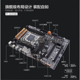 Комплект  Xeon e5 2680 V2, Huanan X79 Plus Память 16/32/64 Гб Кулер Lga 2011 LGA2011